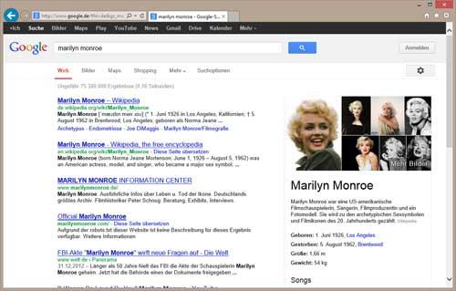 google-suche-marylin