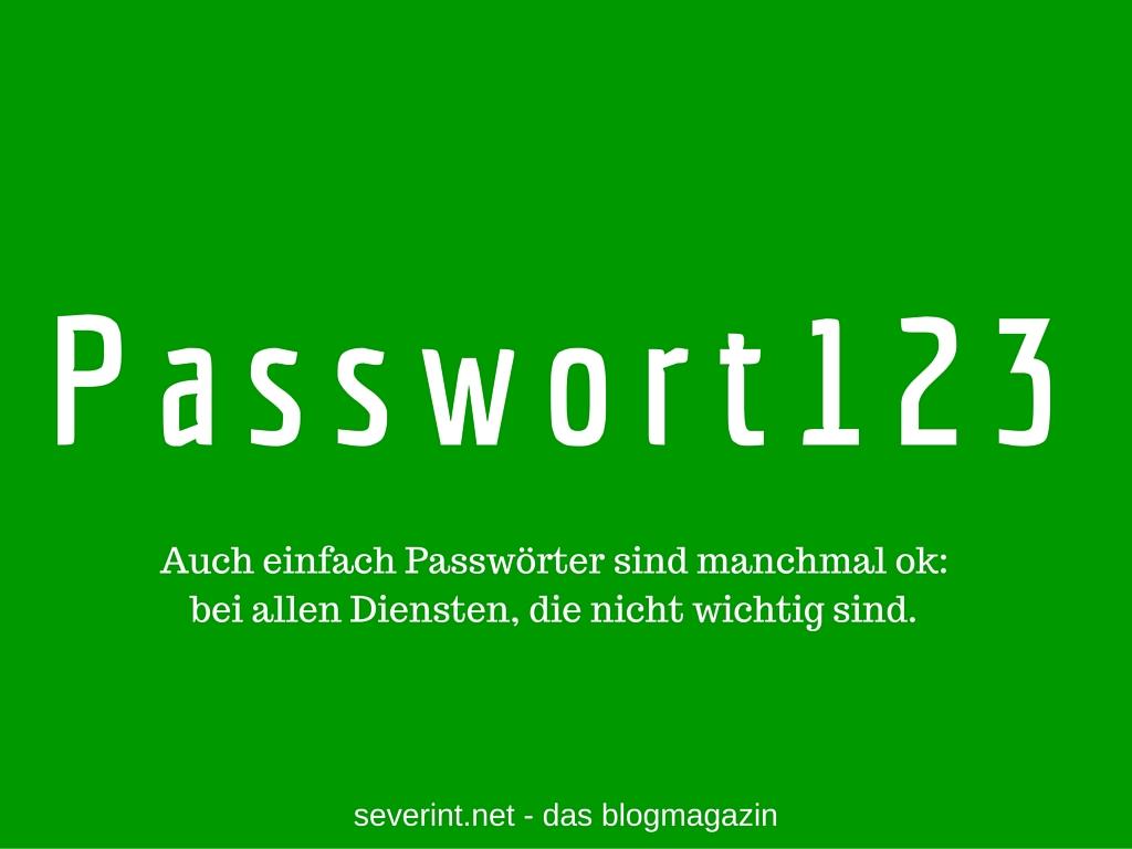 einfaches-passwort-ok