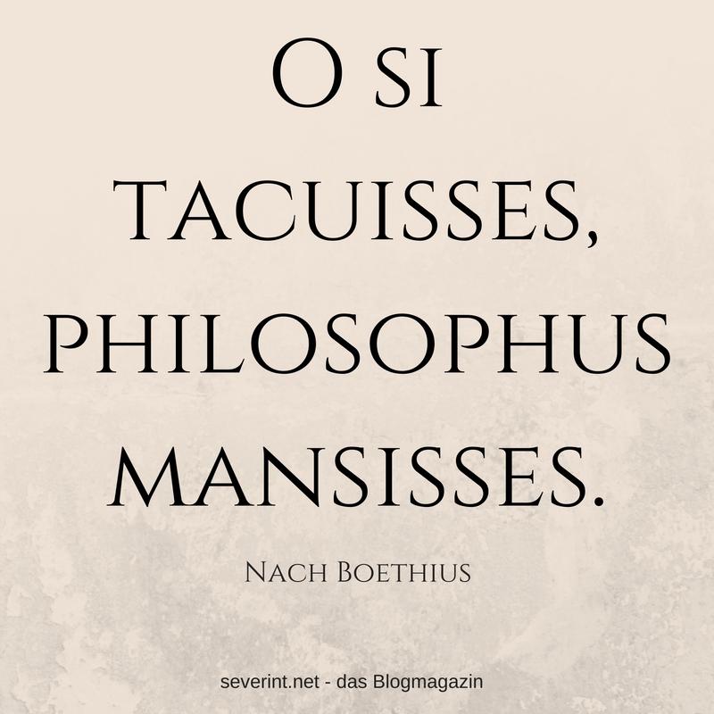 o-si-tacuisse-philosophus