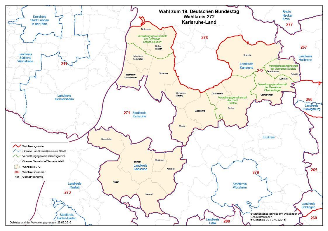 Wahlkreis Karlsruhe
