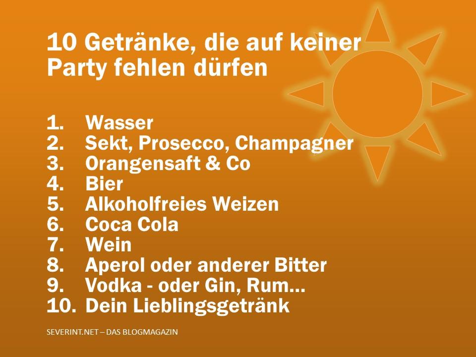 10 Tipps, welche Getränke bei keiner Party fehlen dürfen | das ...