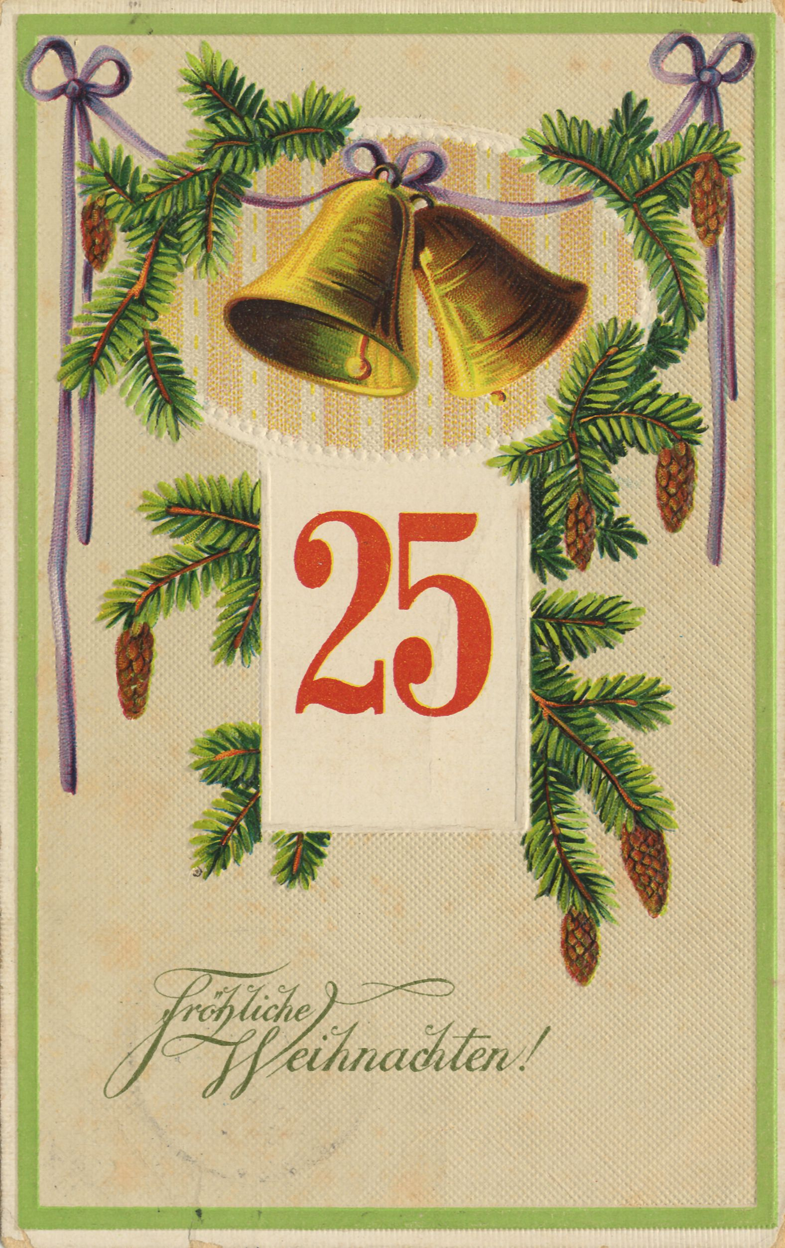 Historische Postkarte Erster Weihnachtsfeiertag Das