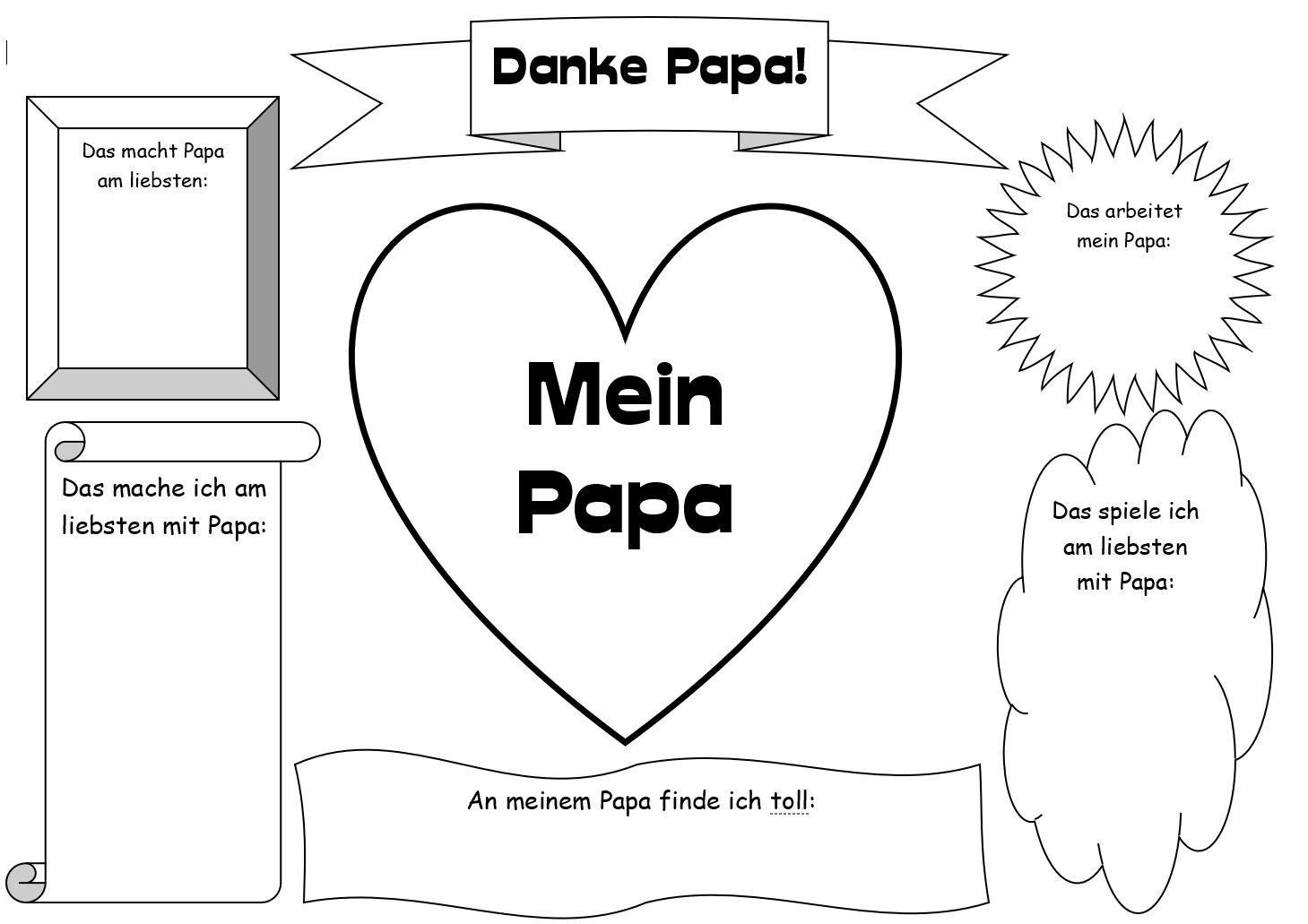 Malvorlage: Vatertag  das BlogMagazin