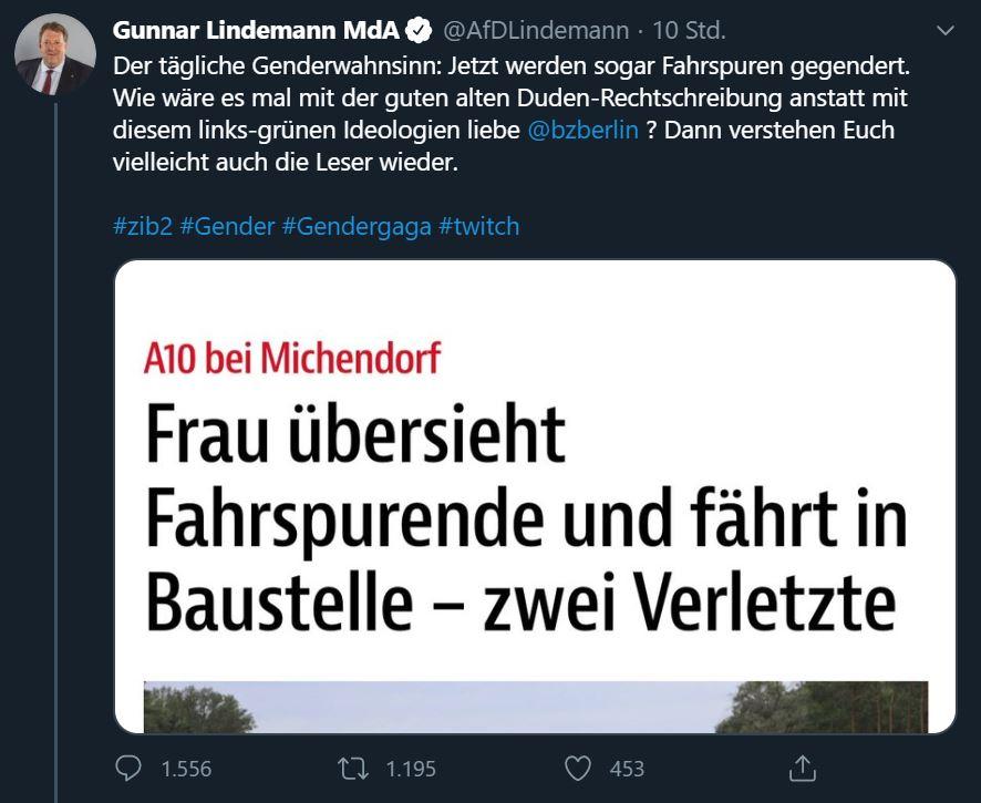 Gunnar Lindemann Fahrspurende